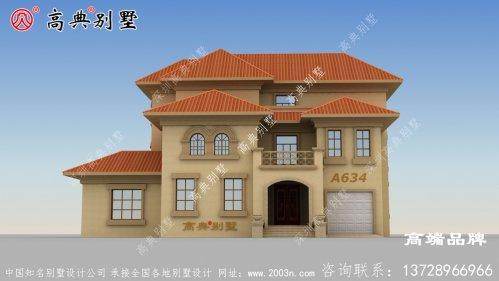 农村别墅建成后就像豪华的宫殿一样