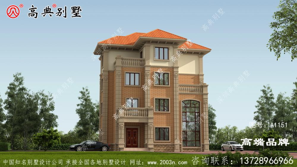 简单气质型的别墅是很多农村朋友建房的首选