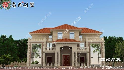 橘屋顶白外墙,做到真正的美观大