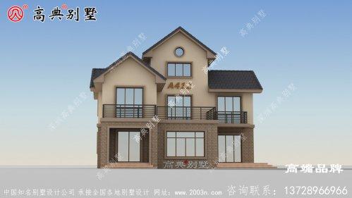 乡村欧式别墅设计图,这配色简直